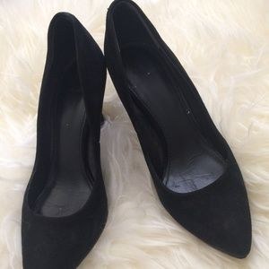 B Brian Atwood Black Suede Pumps
